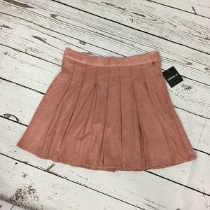 Mauve pink ruffle skirt